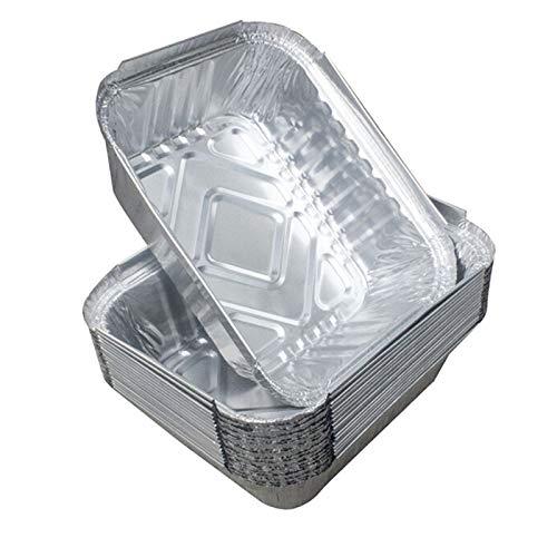 BIMUS 10 stücke Einweg-BBQ-Tropfpfannen Aluminiumfolie-Fett-Tropf-Pans Recyclable Grill-Fang-Tablett for Weber Outdoor-Supplies