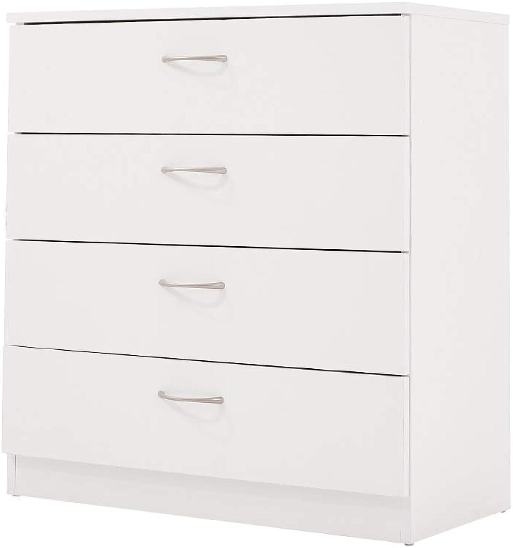 Elevenfurniture Chest of drawers draws Hallway storage Cabinet Sideboard Cupboard Chest 4 Drawer (White)
