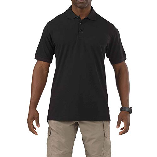 5.11 Tactical Series Utility Polo Short Sleeve Homme, Black, FR : M (Taille Fabricant : M)