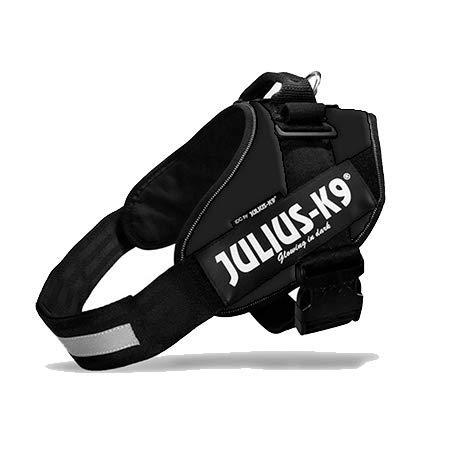 Canicaprice - Pettorina Julius K9 Power IDC nera + 2 etichette da personalizzare