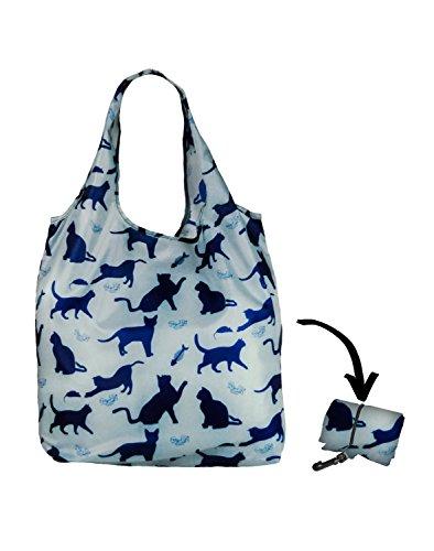 Re-Uz Lifestyle Shopper - pieghevole borse della spesa riutilizzabili - Happy Cats Sky Gatti cielo blu