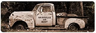 Old Time Signs Nashville or Bust Metal Sign Wall Decor 24 x 8