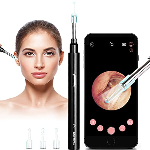 Ear Wax Remover, WiFi Otoscope, Ear Cleaner, Otoscope Endoscope, 5mm Ultra-Thin Ear Camera Endoscope 1080p HD with 6 LEDs Licht für Baby, Children, Adults, Ear wax Remover for iPhone/iPad/iOS/Android