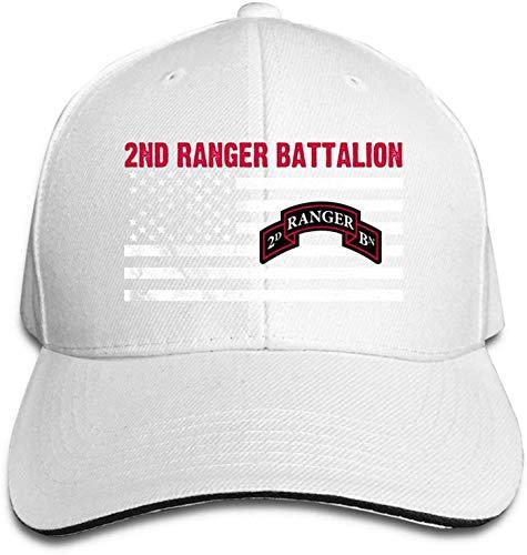Moruolin 2nd Ranger Battalion Adjustable Baseball Caps Vintage Sandwich Hat