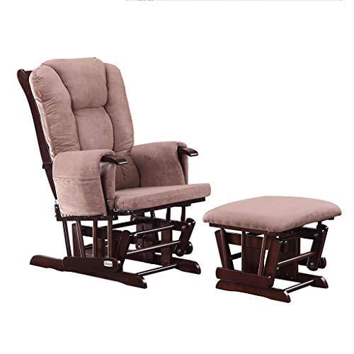 Nursing Glider Glider Chair Und Ottoman Set FüR Baby Mama 3 In 1 Glider Rocking Nursing Footstool Mit Baumwollbezug, Holzbeine, Verstellbare RüCkenlehne