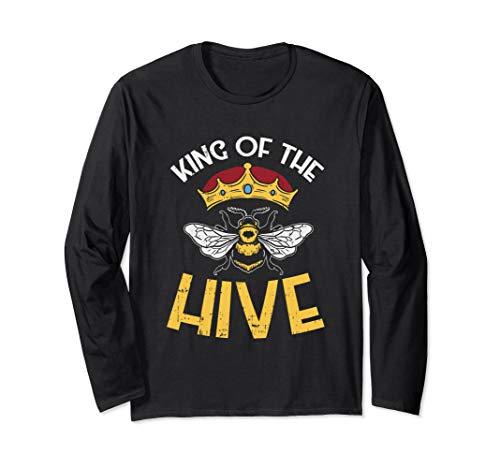 Bee keeper tee, King Of The Hive, Graphic Crown, Bee Langarmshirt