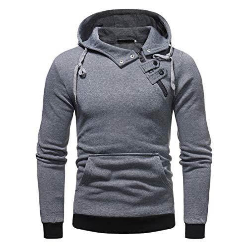 Herren Pullover Hoodie Langarm Hooded Sweatshirt mit Tasche Casual Solid Color Hoodie...