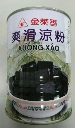 横浜中華街 金莱香 爽滑涼粉( 仙草ゼリー)グラスゼリー 540g(缶)X 1缶、台湾名物、仙草を煮詰めて作ったゼリー♪