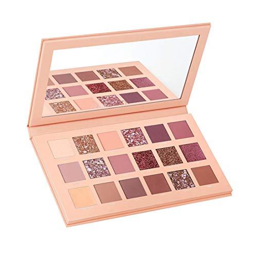 UCANBE BELLE Paleta de Sombra de Ojos Mate Nude Paleta de Brillo de la Paleta de 18 Colores Mate con Smokey Contorno de Maquillaje