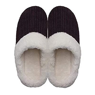Women's Memory Foam Slippers Fuzzy Plush Lining House Soft Warm Slippers Indoor & Home