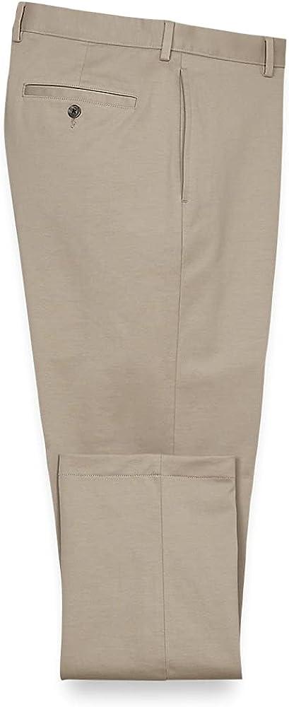 Paul Fredrick Men's Side Pocket Knit Pants, Size 46 X 30 Khaki