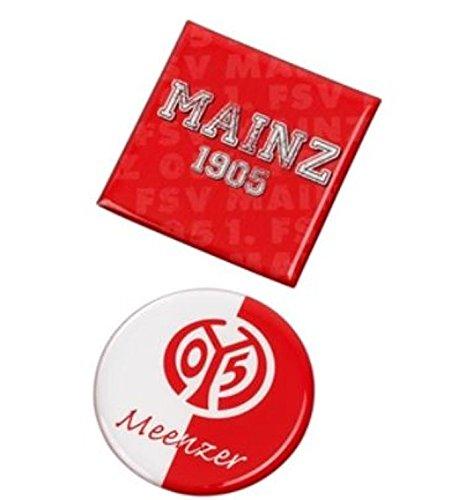 1. TSV Mainz 05 Magnete 2er-Set kompatibel/Schlüsselhalter, Keychains/Porte-clés/llaveros/Anhänger