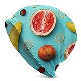 Seiobax Composición Plana con condones y Frutas exóticas, de Secado rápido, Estirable, cálido, al Aire Libre, Gorro, Hombres, Mujeres