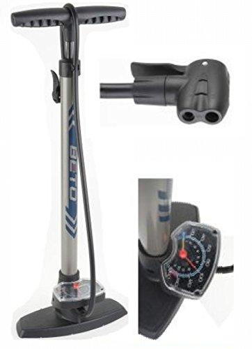 Hochdruck Standpumpe von BETO Stahl mit GROSSEM Manometer Dualkopf