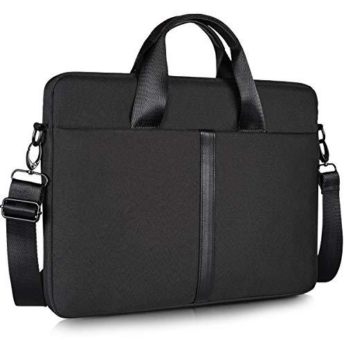 "17.3 Inch Waterproof Laptop Shoulder Bag for Men Women Briefcase for New Lenovo 330 L340 17.3, New HP Envy 17.3, Dell Inspiron 17/Dell G3 G7 17.3, ASUS TUF 17.3, MSI GS75 GL75 GF75 17.3"" Case, Black"