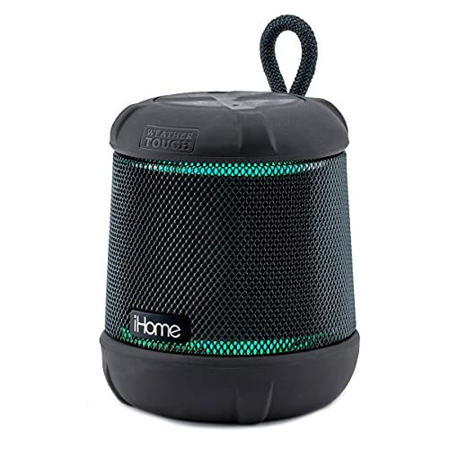iHome iBT155 Bluetooth Speaker Weather Tough Color Changing Floating Waterproof Portable Wireless Speaker with Built-in Passive Subwoofer
