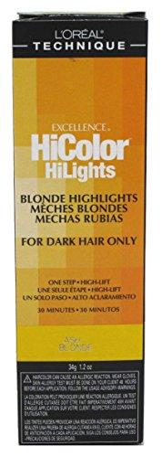 Loreal Excel Hicolor Hilights Ash Blonde 1.2oz (2 Pack)