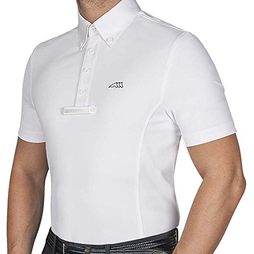 Equiline Poloshirt für Herren, kurzärmlig, Bianco, 40
