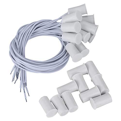 KUIDAMOS Sin Fuente de alimentación Externa Sensor de Puerta Interruptor magnético 10 Piezas, para Sistema de Alarma para el hogar