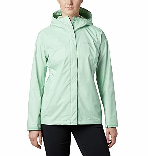 Columbia Arcadia II Hooded Jacket, Waterproof and Breathable Blouson de Pluie, New Mint, XL Femme