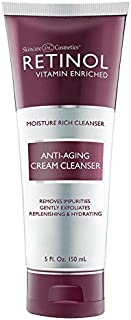 Retinol Anti-Aging Cream Cleanser – Daily Deep Cleansing Facial Wash Exfoliates to Improve Skin's Texture & Moisturizes fo...