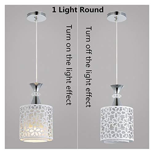 NB YULUBAIHUO Moderna de la Flor LED de luz de lámpara de Techo Pétalo Comedor Araña (Body Color : 1 Light Round)