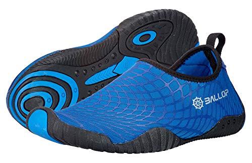 BALLOP Skinfit Spider – Zapatos descalzos, de agua, de playa, de surf, con suela V2 resistente, azul, 45,5-46 EU