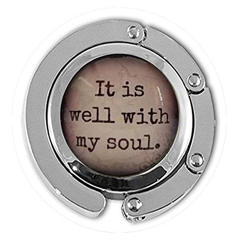BAB It is well with my soul, glass dome necklace, pendant, gift idea, hostess gift, favor, key ring, Hymn, religious gift,Everyday Gift Hanger