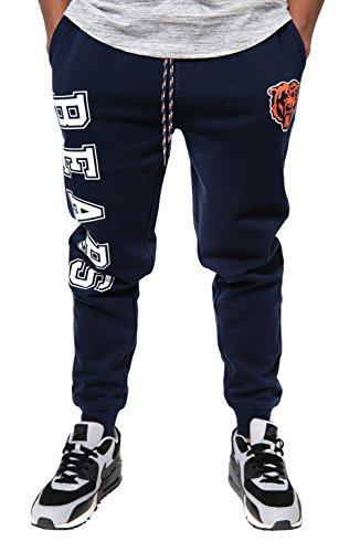 NFL Ultra Game Chicago Bears Active Basic Jogger Fleece Pants, Large, Alternate Team Color