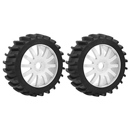 VGEBY1 2Pcs Rubber Tire, Upgrade RC Autoreifen Rad mit Felgennabe für 1/8 Car Remote Control Truck(Weiß)