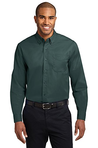 Port Authority Long Sleeve Easy Care Shirt, Dark Green, XL