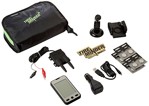 TireMinder-154.1684 A1A Tire Pressure Monitoring System (TPMS) with 4 Transmitters for RVs, MotorHomes, 5th Wheels, Motor Coaches and Trailers, Titanium/Black