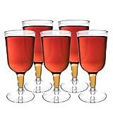 Matana 48 Elegantes Copas de Vino de Plástico Transparente para Fiestas - 180ml
