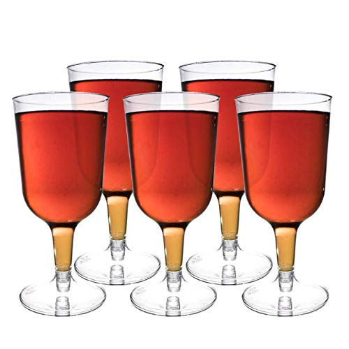 48 Pezzi Bicchieri da Vino in Plastica USA e Getta, Trasparente 180ml - Elegante,...