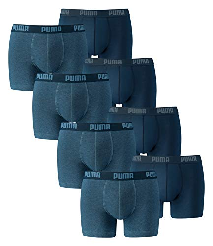 PUMA Herren Boxershorts Unterhosen 521015001 8er Pack , Wäschegröße:M;Artikel:-162 denim