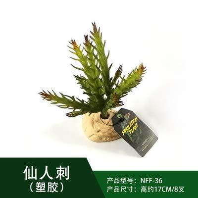 JRTAN&Pet Reptil Seiden-Hängepflanze Liane biegbar Kletterhaustierzuchtkastensimulationsanlage, die Tropische Pflanzen, unsterblichen Dorn landschaftlich gestaltet
