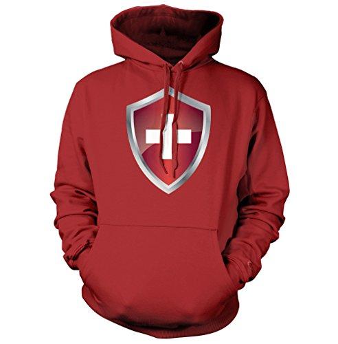 net-shirts Schweiz Wappen Hoodie, Größe XXL, rot