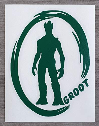 Marvel Guardians of The Galaxy Inspired Groot Sticker voor auto of huis - HSS094 Small - 12cm x 9cm