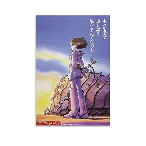 XIONGJIE Nausicaa Valle del Vento Anime Poster decorativo su tela da parete per soggiorno, camera da letto, 30 x 45 cm