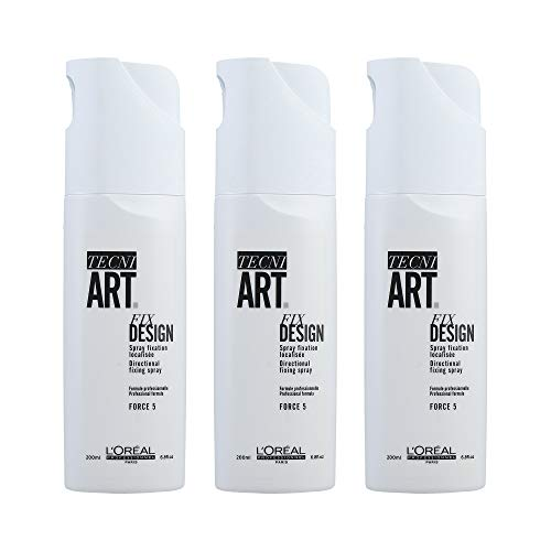 Loreal Fix Design 3 x 200 ml Haarspray Tecni.art Styling Spray ohne Treibgas Neue Serie