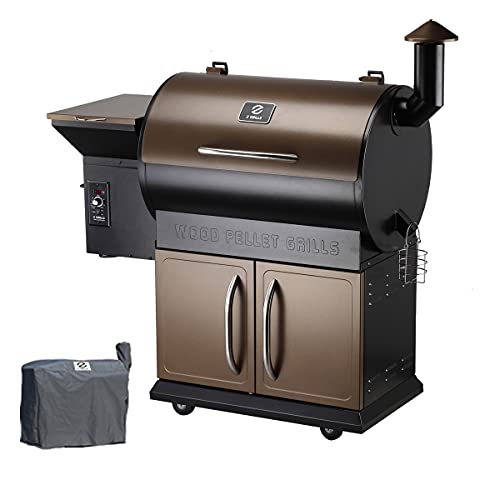 Z Grills Wood Pellet Grill Smoker with 2020 Newest Digital Controls ,700 Cooking Area 8- in-1 Grill,...