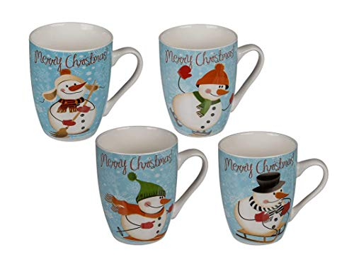 Invero Set of 4 Merry Christmas with Snowman Printed...