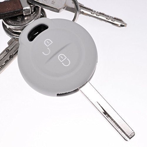 Key Soft Case Cover Funda Protectora para Llave de Coche Gris para Mitsubishi Colt Vi Smart Forfour
