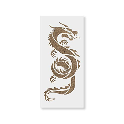 Chinese Dragon Stencil - Reusable Stencils for Painting - Mylar Stencil for Crafts and Decorations