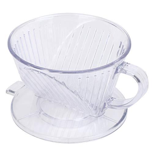 Koffiefilterkop Herbruikbare koffiedruppelaar Koffiekop voor koffieliefhebbers Coffee Shop(Transparent (small))