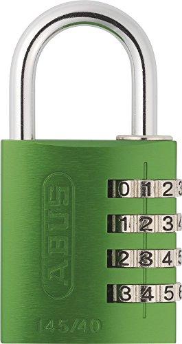 ABUS Aluminium-Zahlenschloss 145/40, grün, 48810