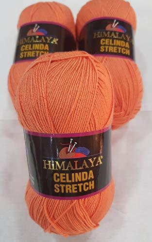 Himalaya Celinda Stretch Yarn, 3 PCS 300 Grams,1290 Meters, BİKİNİ Yarn, Elastic Yarn,Tights Yarn,Swimsuit Yarn,Beach Yarn (212-07)