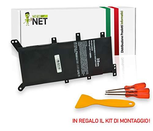 New Net - Batteria da 4900mAh Compatibile con Notebook ASUS A555 A555L F555 F555L F555LD F555LF K555 K555L K555LD R556 R556L R556LD R556LJ X555 X555L X555LB X555LD X555LF X555LI X554L X555MA