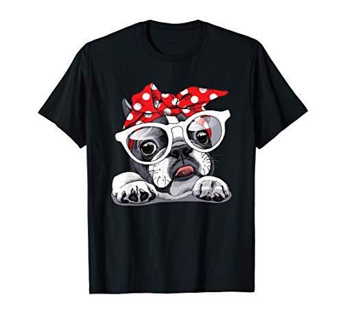French Bull-dog Headband, Love-r Dad Mom Boy Girl Funny T-Shirt