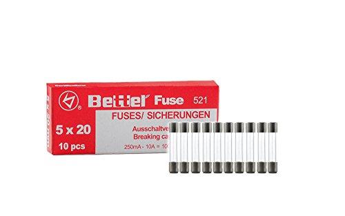 Bezpiecznik 1,6 A flink 5 x 20 mm 250 V typ 521 10 opakowanie bezpieczników precyzyjnych bezpiecznik szklany bezpiecznik G